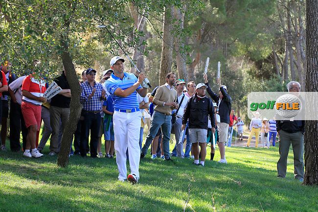 Sergio Garcia (ESP) on the 7th during Round 3 of the Open de Espana  in Club de Golf el Prat, Barcelona on Saturday 16th May 2015.<br /> Picture:  Thos Caffrey / www.golffile.ie