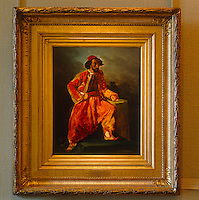 The vibrant colours and exotic culture of North Africa were a great influence on Delacroix's work as seen in this small sketch of a man in traditional costume which hangs in the Musee Delacroix
