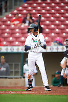Cedar Rapids Kernels third baseman Nelson Molina (23) during the first game of a doubleheader against the Kane County Cougars on May 10, 2016 at Perfect Game Field in Cedar Rapids, Iowa.  Kane County defeated Cedar Rapids 2-0.  (Mike Janes/Four Seam Images)