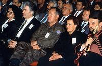 Bijelina / Republika Srpska 1996.<br /> L'ultima apparizione pubblica di Ratko Mladic prima della latitanza. Nella foto è a fianco di Radovan Karadzic in occasione della festa dell'esercito serbo-bosniaco.Ratko Mladic and Radovan Karadzic in Bijelina at the end of the war in Bosnia.<br /> Photo Livio Senigalliesi