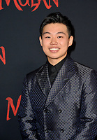 """LOS ANGELES, CA: 09, 2020: Jun Yu at the world premiere of Disney's """"Mulan"""" at the El Capitan Theatre.<br /> Picture: Paul Smith/Featureflash"""