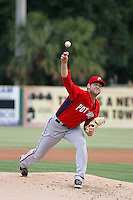 Potomac Nationals pitcher Lucas Giolito (23) in action against the against the Myrtle Beach Pelicans at Ticketreturn.com Field at Pelicans Ballpark on May 25, 2015 in Myrtle Beach, South Carolina.  Myrtle Beach defeated Potomac 3-0. (Robert Gurganus/Four Seam Images)