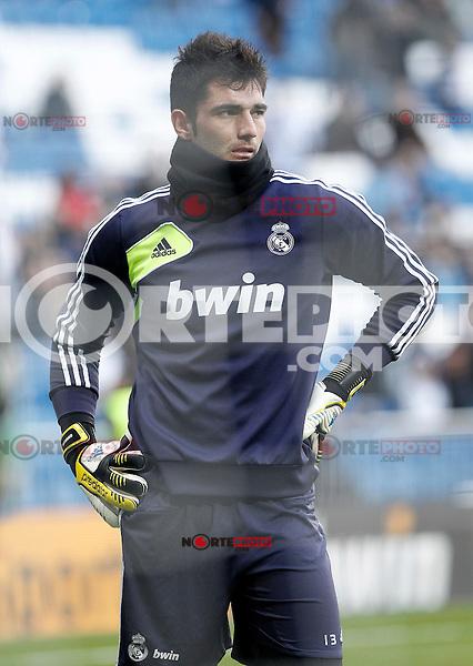 Real Madrid's Antonio Adan Garrido during La Liga match.January 06,2013. (ALTERPHOTOS/Acero) /NortePhoto
