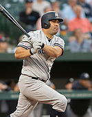 New York Yankees first baseman Kendrys Morales (36) grounds out in the second inning against the Baltimore Orioles at Oriole Park at Camden Yards in Baltimore, MD on Wednesday, May 22, 2019.<br /> Credit: Ron Sachs / CNP<br /> (RESTRICTION: NO New York or New Jersey Newspapers or newspapers within a 75 mile radius of New York City)