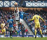 Joe Garner challenges keeper Viktor Noring who drops the ball and it falls to Barrie McKay to score