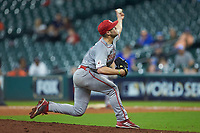 Louisiana Ragin' Cajuns relief pitcher Brock Batty (20) in action against the Kentucky Wildcats in game seven of the 2018 Shriners Hospitals for Children College Classic at Minute Maid Park on March 4, 2018 in Houston, Texas.  The Wildcats defeated the Ragin' Cajuns 10-4. (Brian Westerholt/Four Seam Images)