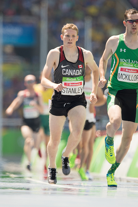RIO DE JANEIRO - 11/9/2016:  Liam Stanley competes in the Men's 1500m - T37 Final at the Olympic Stadium during the Rio 2016 Paralympic Games in Rio de Janeiro, Brazil. (Photo by Matthew Murnaghan/Canadian Paralympic Committee