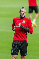 Gareth Bale during Wales training ahead of the World Cup 2018 qualification match against Moldova at Cardiff City Stadium, Cardiff, Wales on 4 September 2016. Photo by Mark  Hawkins / PRiME Media Images.