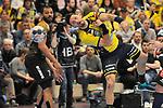 Rhein Neckar Loewe Alexander Petersson (Nr.32) beim Wurf beim Spiel in der Handball Champions League, Rhein Neckar Loewen - HBC Nantes.<br /> <br /> Foto &copy; PIX-Sportfotos *** Foto ist honorarpflichtig! *** Auf Anfrage in hoeherer Qualitaet/Aufloesung. Belegexemplar erbeten. Veroeffentlichung ausschliesslich fuer journalistisch-publizistische Zwecke. For editorial use only.