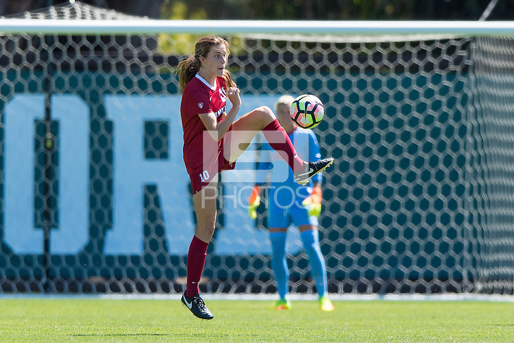Stanford, CA - September 4, 2016:  Tierna Davidson during the Stanford vs Marquette Women's soccer match in Stanford, California.  The Cardinal defeated the Golden Eagles 3-0.