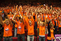 13-sept.-2013,Netherlands, Groningen,  Martini Plaza, Tennis, DavisCup Netherlands-Austria, , Dutch Supporters  doing the wave<br />