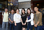 Wen Chen, Zhiyong Liu, Yanping Ma, Qianda Rao, Xuejiao Bai and Zhenzhu Ma from Central Academy of Drama: Professors Visit Sardi's on September 24, 2017 at the Drama League Center  in New York City.