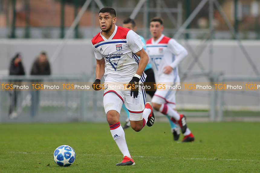 Hamza Rafia of Olympique Lyonnais in action during Lyon Under-19 vs Manchester City Under-19, UEFA Youth League Football at Groupama OL Academy on 27th November 2018