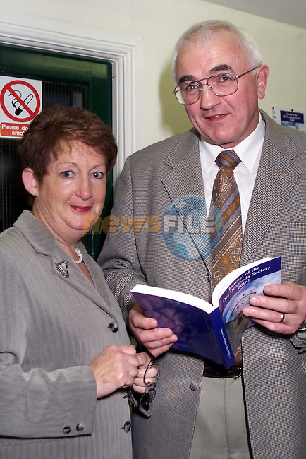 Deirdre Russell and Seamus Harkan at the launch of the millenium Edition of the Old Drogheda Society's journal in the Governer's House, Millmount..Picture: Paul Mohan/Newsfile