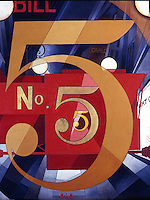 American Painters:  Charles Demuth--I Saw the Figure 5 in Gold 1928.  Oil. Metropolitan Museum of Art.