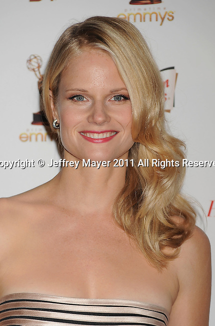 WEST HOLLYWOOD, CA - SEPTEMBER 16: Joelle Carter attends the 63rd Annual Emmy Awards Performers Nominee Reception held at the Pacific Design Center on September 16, 2011 in West Hollywood, California.