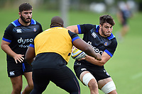 Josh Bayliss of Bath Rugby in possession. Bath Rugby pre-season training session on July 28, 2017 at Farleigh House in Bath, England. Photo by: Patrick Khachfe / Onside Images