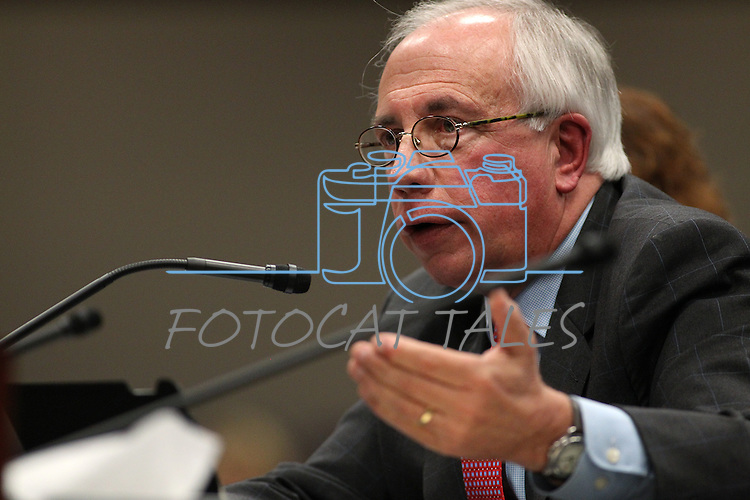 Nevada Assemblyman Pat Hickey, R-Reno, works in committee at the Legislative Building in Carson City, Nev., on Friday, March 13, 2015. <br /> Photo by Cathleen Allison