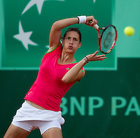 ANDREA PETKOVIC (GER) (15) against BOJANA JOVANOVSKI (SRB) in the first round of the women's singles. Andrea Petkovic beat Bojana Jovanovski  6-4 7-6  ..Tennis - Grand Slam - French Open - Roland Garros - Paris - Day 3 -  Tue May 24th 2011..© AMN Images, Barry House, 20-22 Worple Road, London, SW19 4DH, UK..+44 208 947 0100.www.amnimages.photoshelter.com.www.advantagemedianetwork.com.
