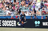 Cary, North Carolina  - Saturday August 19, 2017: Jaelene Hinkle during a regular season National Women's Soccer League (NWSL) match between the North Carolina Courage and the Washington Spirit at Sahlen's Stadium at WakeMed Soccer Park.
