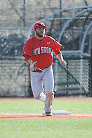 University of Houston Cougars infielder Casey Grayson (18) during game game 2 of a double header against the Rutgers Scarlet Knights at Bainton Field on April 5, 2014 in Piscataway, New Jersey. Houston defeated Rutgers 9-1.      <br />  (Tomasso DeRosa/ Four Seam Images)