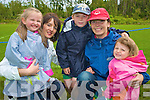 Pictured at the official opening of the new football pitch at Lickeen, Glencar on Sunday were Lorraine and Corrine O'Shea, Cromane, with Lisa, Ethan and Alexa Falvey, Glenbeigh......