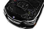 Car stock 2018 BMW 2 Series M-Sport 2 Door Convertible engine high angle detail view