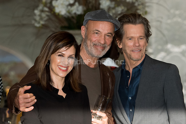 Actor Heiner Lauterbach (c), his wife Viktoria and US-American actor Kevin Bacon, photographed before the premiere of the new Amazon series 'I love Dick' at Bayerischer Hof in Munich, Germany, 2 May 2017.  - NO WIRE SERVICE - Photo: Tobias Hase/dpa /MediaPunch ***FOR USA ONLY***