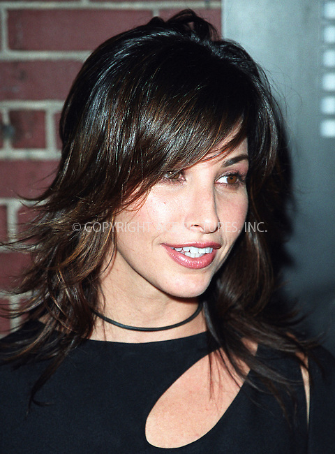 Gina Gershon arriving at the party celebration of the first anniversary of his club Man Ray. New York, July 10, 2002. Please byline: Alecsey Boldeskul/NY Photo Press.   ..*PAY-PER-USE*      ....NY Photo Press:  ..phone (646) 267-6913;   ..e-mail: info@nyphotopress.com