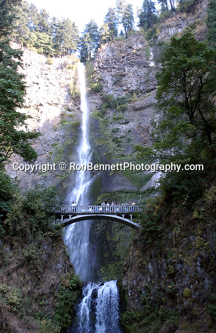 "Multnomah Falls Bridal Veil Oregon,  Bridal Veil, Oregon, Cascade Locks, Columbia River Gorge, Multnomah Falls 620 feet two drops, Multnomah Creek, Fine art Photography and Stock Photography by Ronald T. Bennett Photography ©, FINE ART and STOCK PHOTOGRAPHY FOR SALE, CLICK ON  ""ADD TO CART"" FOR PRICING,"