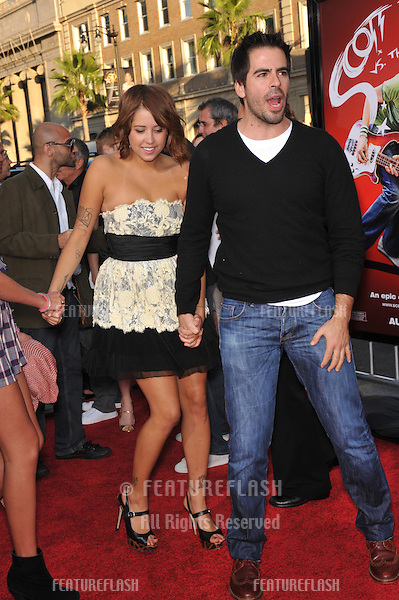 "Eli Roth & Peaches Geldof (in lemon) & friend at the world premiere of ""Scott Pilgrim vs. The World"" at Grauman's Chinese Theatre, Hollywood..July 27, 2010  Los Angeles, CA.Picture: Paul Smith / Featureflash"