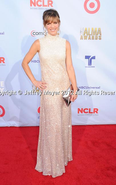 PASADENA, CA - SEPTEMBER 16: Natalie Morales  arrives at the 2012 NCLR ALMA Awards at Pasadena Civic Auditorium on September 16, 2012 in Pasadena, California.