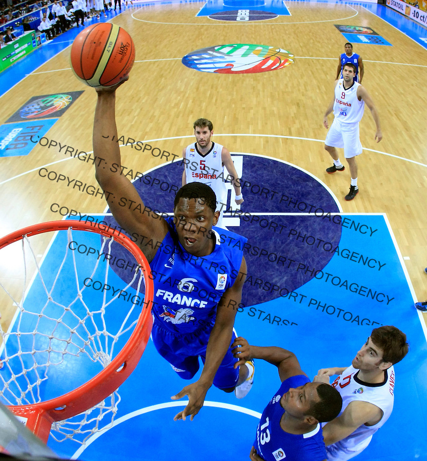French national basketball team player Seraphin Kevin during final Eurobasket 2011 game between Spain and France in Kaunas, Lithuania, Sunday, September 18, 2011. (photo: Pedja Milosavljevic)