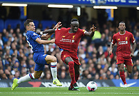 Sadio Mane of Liverpool and César Azpilicueta of Chelsea during the Premier League match between Chelsea and Liverpool at Stamford Bridge on September 22nd 2019 in London, England. (Photo by Zed Jameson/phcimages.com)<br /> Foto PHC/Insidefoto <br /> ITALY ONLY