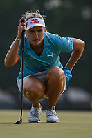 Lexi Thompson (USA) lines up her putt on 18 during round 4 of the 2019 US Women's Open, Charleston Country Club, Charleston, South Carolina,  USA. 6/2/2019.<br /> Picture: Golffile | Ken Murray<br /> <br /> All photo usage must carry mandatory copyright credit (© Golffile | Ken Murray)