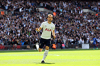 Harry Kane of Tottenham Hotspur scores the opening Spurs goal  during Tottenham Hotspur vs Leicester City, Premier League Football at Wembley Stadium on 13th May 2018