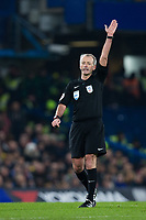 Referee Martin Atkinson <br /> <br /> Photographer Craig Mercer/CameraSport<br /> <br /> The Carabao Cup - Semi-Final 1st Leg - Chelsea v Arsenal - Wednesday 10th January 2018 - Stamford Bridge - London<br />  <br /> World Copyright &copy; 2018 CameraSport. All rights reserved. 43 Linden Ave. Countesthorpe. Leicester. England. LE8 5PG - Tel: +44 (0) 116 277 4147 - admin@camerasport.com - www.camerasport.com