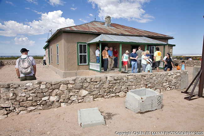The Trinity Test Site, where the first atomic bomb was exploded on July 16, 1945, is open to the public on the first Saturday of April and October. The McDonald Farmhouse, where the bomb was assembled, is part of the Trinity Site tour.