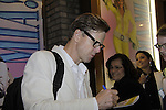"""Mamma Mia's actor Alan Campbell (AW """"Evan Grant"""" & AMC) celebrates his birthday and signs for fans. (Photo by Sue Coflin/Max Photos)"""