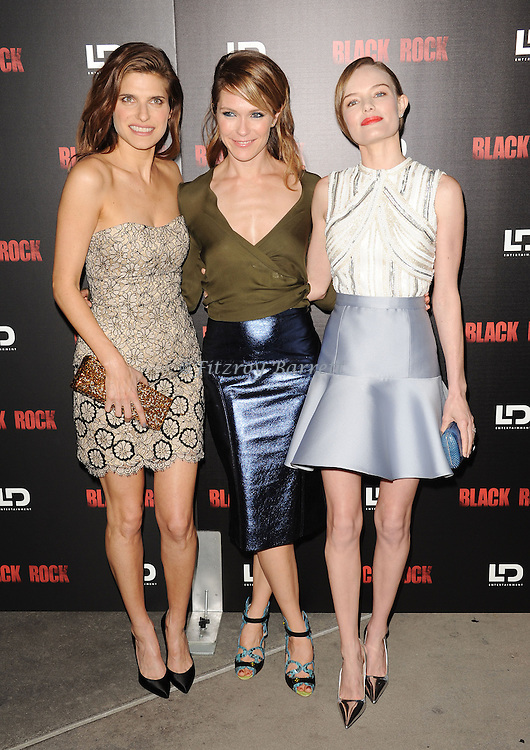 "Lake Bell, Katie Aselton and Kate Bosworth at the screening of ""Black Rock"" held at the Arclight Theatre in Los Angeles, CA. on May 8, 2013."