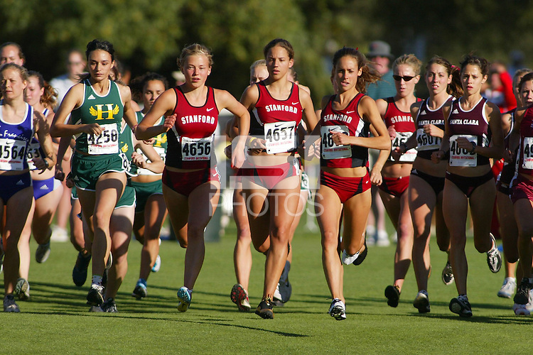 24 September 2005: Shannon Bergstedt, Lauren Centrowitz, Amanda Trotter and Leah Sawyer during the Stanford Invitational at the Stanford Golf Course in Stanford, CA.