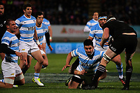 Action from the Rugby Championship match between the NZ All Blacks and Argentina Pumas at Yarrow Stadium in New Plymouth, New Zealand on Saturday, 9 September 2017. Photo: Dave Lintott / lintottphoto.co.nz