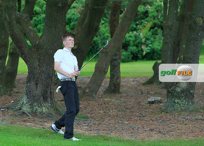 Shane Kearney (Esker Hills) on the 8th fairway during Round 3 of the 2016 Connacht U18 Boys Open, played at Galway Golf Club, Galway, Galway, Ireland. 07/07/2016. <br /> Picture: Thos Caffrey | Golffile<br /> <br /> All photos usage must carry mandatory copyright credit   (&copy; Golffile | Thos Caffrey)