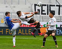 v.l. Tim Skarke (SV Darmstadt 98), Leo Oestigard (FC St. Pauli), Ryo Miyaichi (FC St. Pauli)<br /> <br /> - 23.05.2020: Fussball 2. Bundesliga, Saison 19/20, Spieltag 27, SV Darmstadt 98 - FC St. Pauli, emonline, emspor, v.l. <br /> <br /> Foto: Florian Ulrich/Jan Huebner/Pool VIA Marc Schüler/Sportpics.de<br /> Nur für journalistische Zwecke. Only for editorial use. (DFL/DFB REGULATIONS PROHIBIT ANY USE OF PHOTOGRAPHS as IMAGE SEQUENCES and/or QUASI-VIDEO)