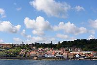 Blick &uuml;ber Gudhjem auf der Insel Bornholm, D&auml;nemark, Europa<br /> Gudhjem, Isle of Bornholm Denmark