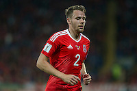 Chris Gunter of Wales during the FIFA World Cup Qualifier match between Wales and Moldova at Cardiff City Stadium, Cardiff, Wales on 5 September 2016. Photo by Mark  Hawkins.