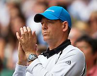 England, London, 28.06.2014. Tennis, Wimbledon, AELTC, The coach of Maria Sharapova (RUS) Sven Groeneveld (NED)<br /> Photo: Tennisimages/Henk Koster