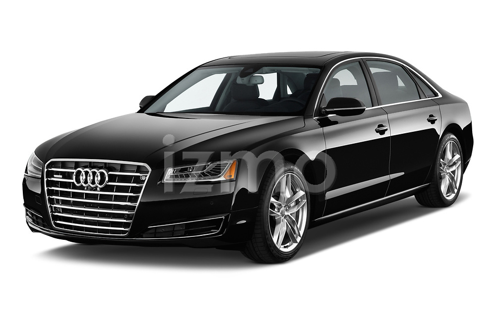 2015 Audi A8 3.0T SWB quattro tiptronic 4 Door Sedan angular front stock photos of front three quarter view