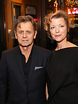 Mikhail Baryshnikov and Lisa Rinehart attend the Broadway Opening Night performance of The Roundabout Theatre Company production of 'Time and The Conways'  on October 10, 2017 at the American Airlines Theatre in New York City.