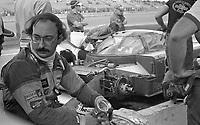 Bobby Rahal in the pits during the Rolex 24 at Daytona, Daytona International Speedway, Daytona Beach, FL, January 31, 1982.  (Photo by Brian Cleary/www.bcpix.com)